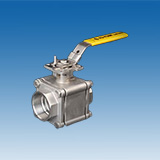 "Three Piece Ball Valve 1500/2000 WOG (1/4"" ~ 2-1/2"")"
